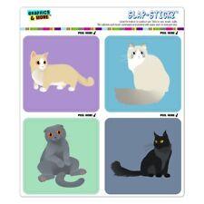 Pastel Cats Munchkin Ragdoll Craft Scrapbook Planner Sticker Set