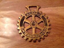 Vintage Rotary International horse brass
