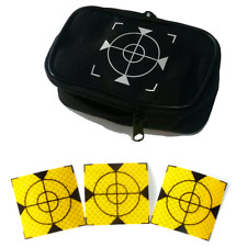 Yellow  Reflective Targets/Labels (100 No) - 60mm x 60mm + case free!!!