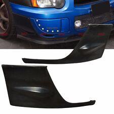 Front Body Side Bumper Lip Caps Cover Kit PU fits 04 05 Subaru Impreza WRX STI