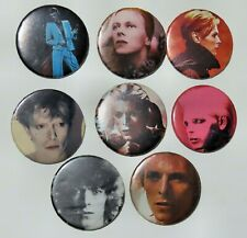 David Bowie 8 Assorted Vintage Buttons