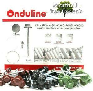 GENUINE ONDULINE Roof Sheet Fixing Nails / Screws COROLINE CORRUGATED BITUMEN
