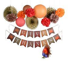 Thanksgiving fall harvest autumn party decoration kit turkey centerpiece banner