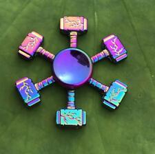Rainbow 6 Hammer Hand Spinner Metal Fidget Kids Stress Relieve Finger Toys Gift