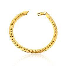 Fine 9K Yellow Gold Filled Men's Snake chunky Chain Link Bracelet 9 Inch
