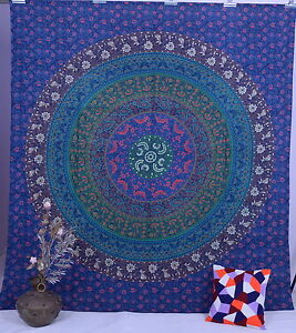 Ethnic Indian Wall Tapestry Mandala Wall Hanging Bohemian Queen Size Bedspread