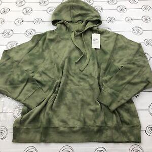Old Navy Easy Vintage Green Tie Dye Hoodie Size XL