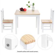 3-tlg Kindersitzgruppe Kindertisch Kinderstuhl Holz Stuhl Tisch mit 2 Stühlen
