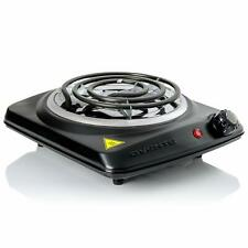 Ovente Electric Single Coil Burner 6 Inch Hot Plate with Fire Resistant BGC101B
