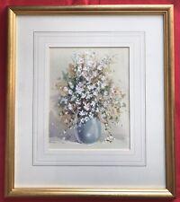 Original English Art Watercolour Painting Still Life Flowers By Derek Brown