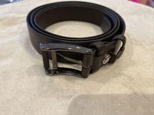 Gio Genco Black Leather Belt