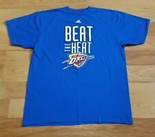 b9cc86d5219 Oklahoma City THUNDER T Shirt XL OKC From NBA FINALS vs HEAT 2012 Adidas