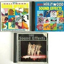 Hollywood Sensation Sound Effects More 3 CD Bundle Movie TV EFX Compose 1980s
