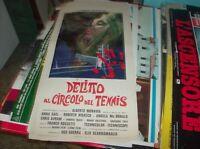 DELITTO AL CIRCOLO DEL TENNIS locandina originale 1969