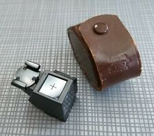 Rare Leitz Leica Aufsu 2 Waist Level Finder w/ Fitted Leather Case