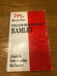 k William Shakespeare's HAMLET Monarch Notes 1964 College Guide