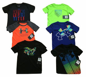 NWT Under Armour Toddler Boys Athletic Assorted T-Shirts Sizes: 2T, 3T or 4T