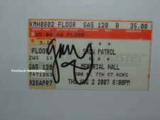 SNOW PATROL Concert Ticket Stub GARY LIGHTBODY Signed 2007 KANSAS CITY Autograph
