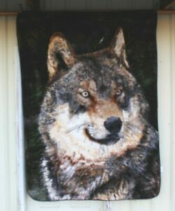 WOLF WOLVES TWIN SIZE BLANKET