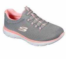 Skechers Sneaker Low Summits - Grey/Pink Polyester Normal Damen