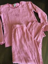 Petit Bateau 8 Jahre Schlafanzug 122 Pyjama 2 Teiler Homewear *N Rot Gestreift