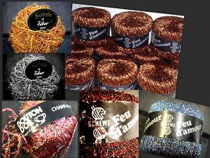 Lurex, Effect Yarn, Bouton Dor, Tiber, Schewe, Vintage-Retro