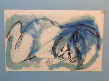 Rosemary Zwick Slipping Child Abstract Drawing Signed Chicago Listed Artist
