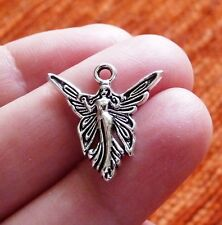 10x Angel Charms for Bracelet Fairy Pendant Necklace Making Supplies Silver Tone
