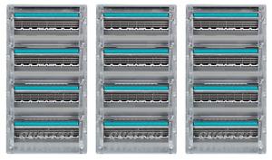 Schick Quattro Titanium Cartridge Razor Refills - 12 Cartridges