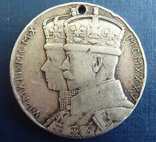 Great Britain 1935 .925 Silver Jubilee Medallion Stet Fortuna Domus George&Mary