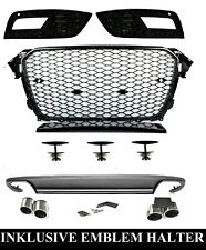 Für Audi A4 B8 12-16 RS4 -Look Wabengrill + S4 Look Diffusor Stoßstange Grill #7