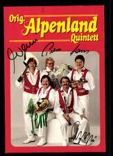 Alpenland Quintett Autogrammkarte Original Signiert ## BC 43918