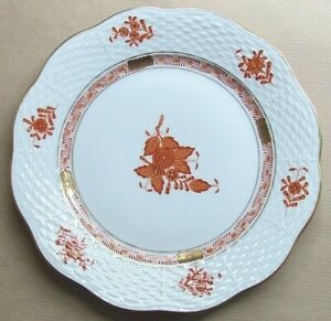 """HEREND APPONYI CHINESE BOUQUET AOG RUST 7½"""" SALAD PLATE (Ref7213)"""