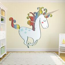 Large Unicorn Wall Sticker Nursery Wall Decal Girls Bedroom Home Decor