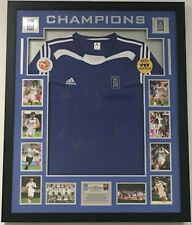 Signed Greece 2004 EURO Champions Framed with COA