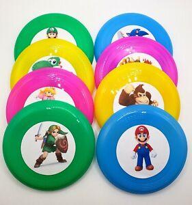 Super Smash Brothers Birthday Party Mini Frisbees Set of 8 Treat Favors Mario
