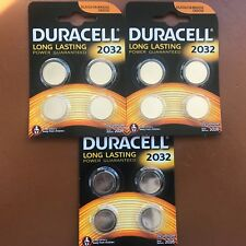 12 x DURACELL CR2032 3 V batteria litio moneta cella 2032, DL2032, BR2032, SB-T15