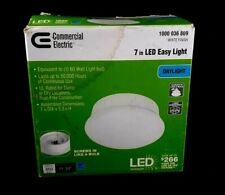Commercial Electric - 7 In. LED Easy Light - White Finish