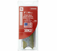 "Senco A302000 Bright Basic 34 Angled Strip Finish Nails, 2"", 700-Ct, 15"