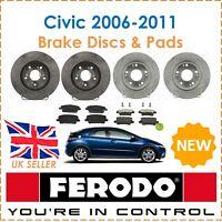 For Honda Civic 1.8 2.2 CDTi 2006-2011 FERODO Brake Discs & Pads Front & Rear