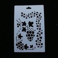 Grape Vine Leaf Stencil Airbrush Painting Art Cake Spray Mold DIY Decor Crafts