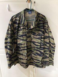 Propper Tiger Stripe Camo BDU Shirt Tactical Military Uniform 4-Pocket Shirt  L
