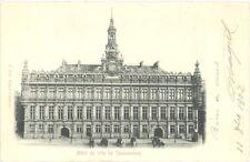 CPA en relief - 59 - Hôtel de Ville VALENCIENNES - Dos simple - datée de 1902