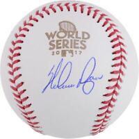 Nolan Ryan Houston Astros 2017 MLB World Series Champs Signed Logo Baseball