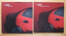 SAAB 93 Sport Saloon 2004 UK Market sales brochure + price list - Aero etc