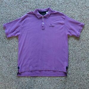 Orvis Polo Shirt Mens XL Tall Purple Heavy Cotton Short Sleeve Fly Fishing