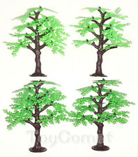 4 pcs 13.5cm Plastic Tree Models Diorama Prop Toy Soldiers Army Men Accessories