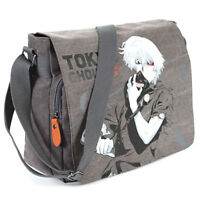 Tokyo Ghoul Kaneki Ken Canvas Shoulder Messenger Bag Flap School Laptop Backpack