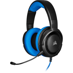 Corsair HS35 Blue Stereo Gaming Headset Microphone Wired 3.5mm PC Xbox One PS4