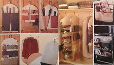 McCall 8260 Sew Pattern Organizers Car Closet Couch Gift Wrap Garment Bag Shoe A